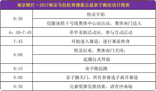 2017南京马拉松公益亲子跑参赛指南