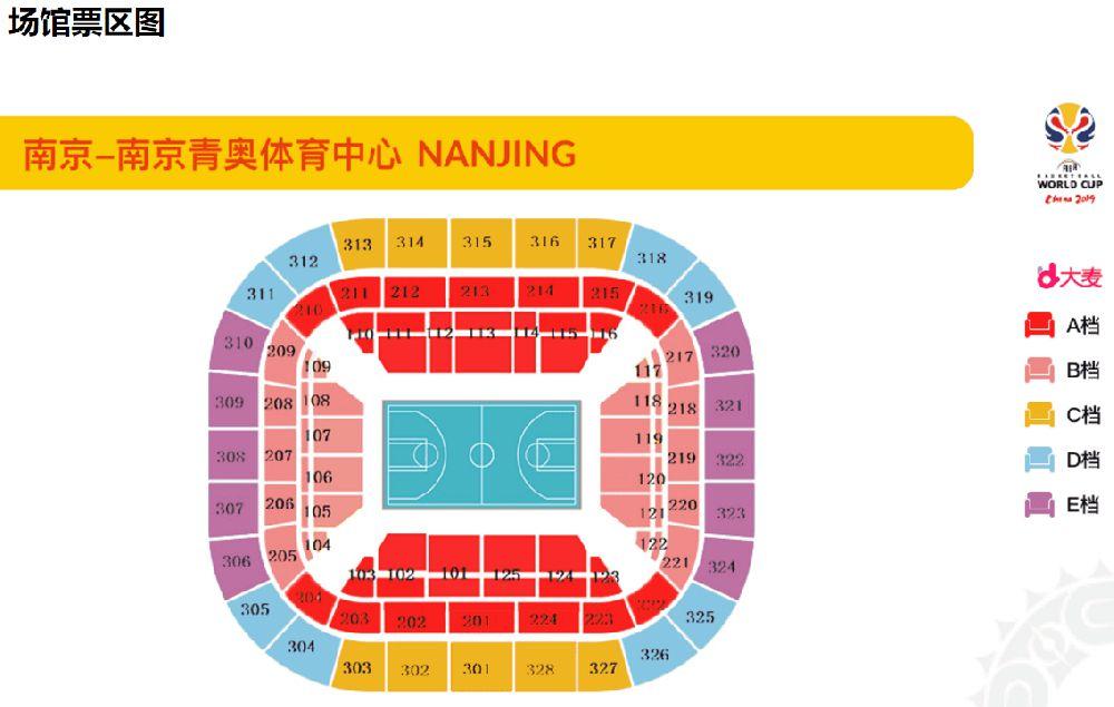 2019篮球世界杯南京站(时间+地点+门票)