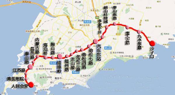 青岛地铁4号线站点位置