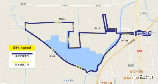 2017青岛姜山湿地国际马拉松路线 图图片