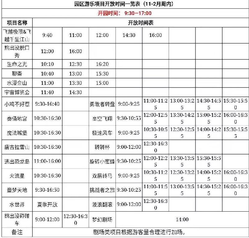 2018青岛方特游玩项目开放时间(持续更新)