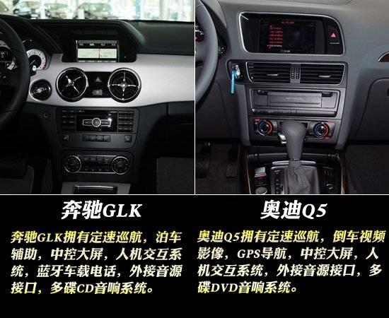 在方向盘方面,奔驰glk的方向盘是真皮多功能方向盘,具有电动高清图片