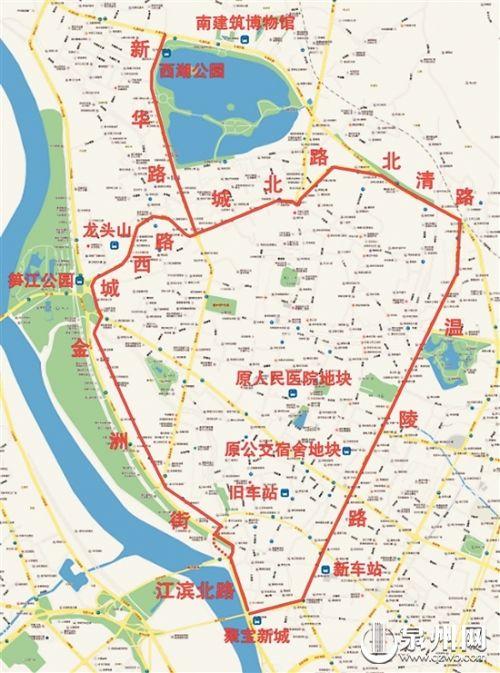 """新的""""古城区""""(红线及其范围内)基本囊括整个古城"""