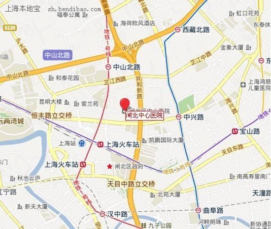 上海闸北区地�_闸北区中心医院电话及地址- 上海本地宝