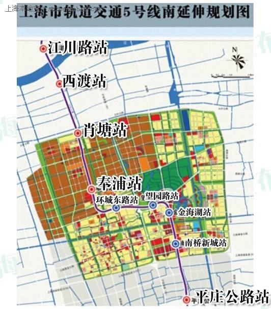 上海地铁5号线南延伸段八站点3D效果图模型亮相
