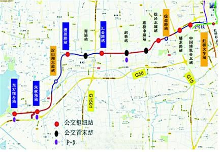 上海地铁17号线串起淀山湖畔5颗 珍珠图片