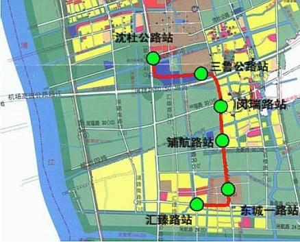 上海地铁8号线延伸段规划图及站点设置