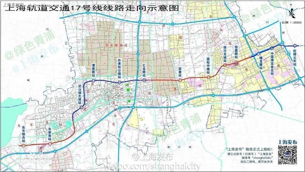 上海地铁17号线运行线路示意图图片