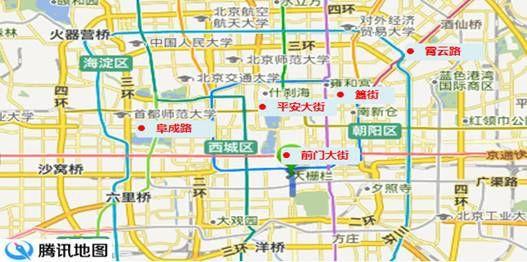 北京美食街地图