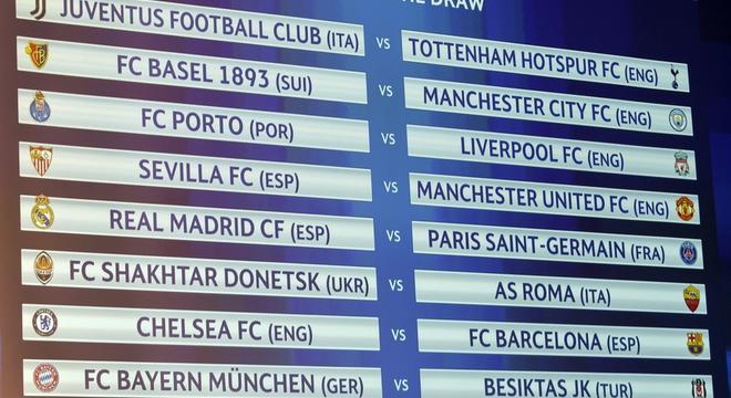 2017-2018欧冠16强淘汰赛赛程时间表一览