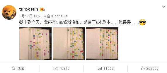 孙俪再晒剧本 满屏标签25万网友点赞(图)