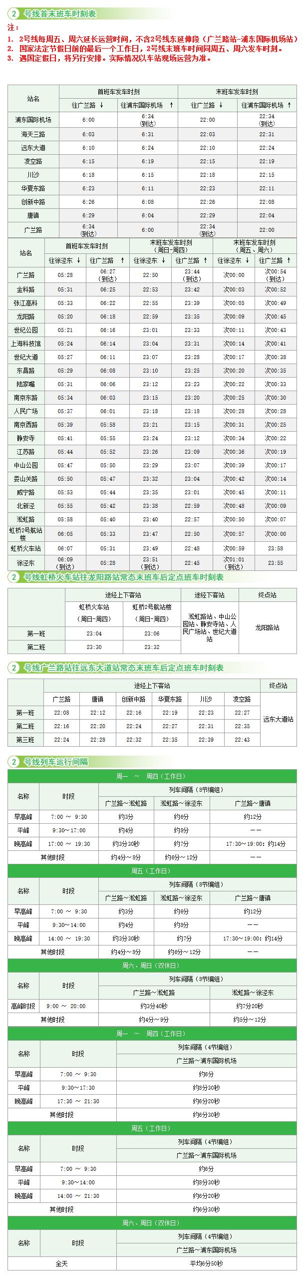 上海地铁二号线时刻_最新上海地铁2号线首末车时刻表一览- 上海本地宝