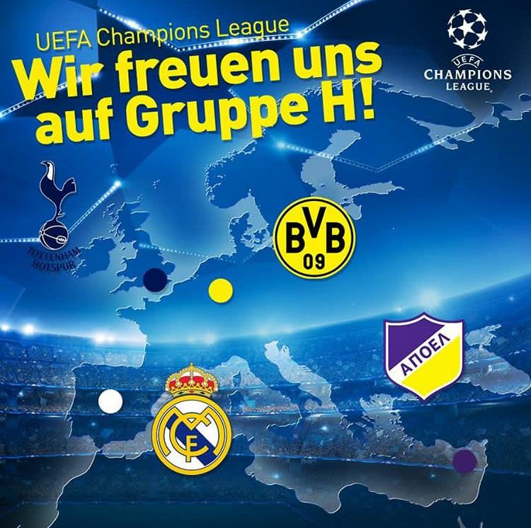 2017-2018欧冠赛程表公布