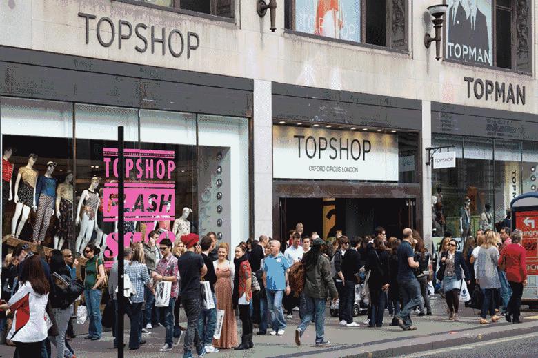 TOPSHOP中国首家旗舰店入驻上海 9月开业