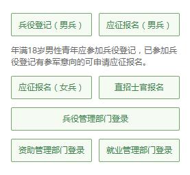 全国征兵网首页右侧菜单