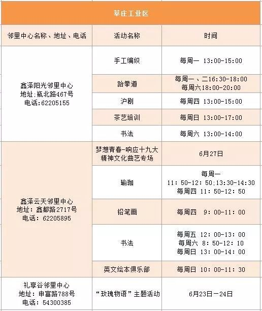 2018端午节上海闵行邻里中心活动一览