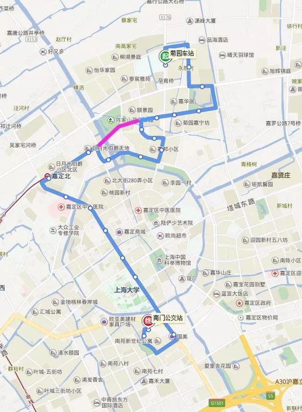 2018嘉定公交线网调整公示:新辟3条、调整15条公交线路