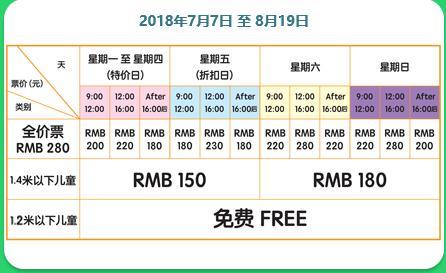 2018年上海热带风暴门票价格