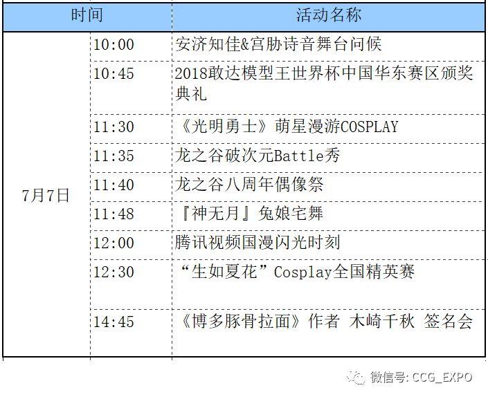 2018上海CCG漫展舞台排片表出炉   附门票预订