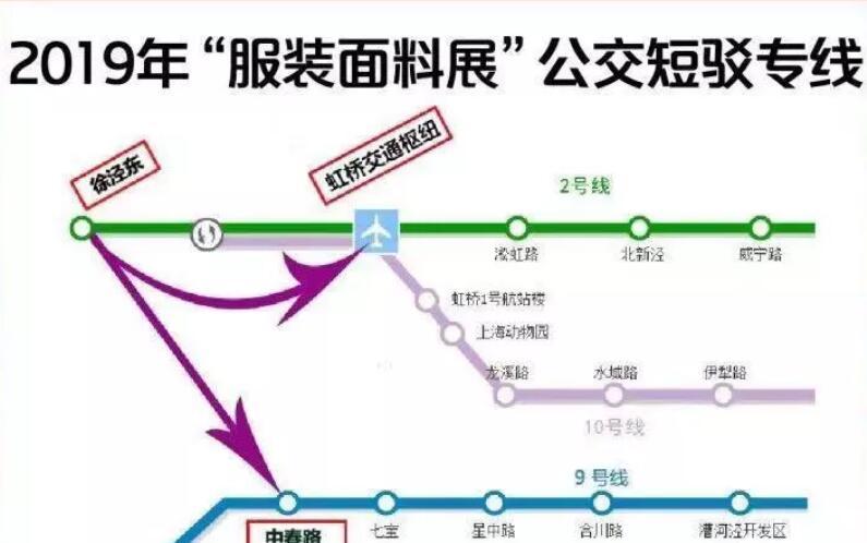 2019上海服装面料展开幕 地铁2/17号线增加机动运力