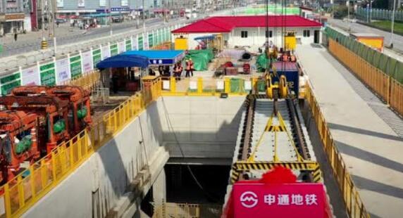 上海地铁18号线建设最新进展 正式开始铺设轨道