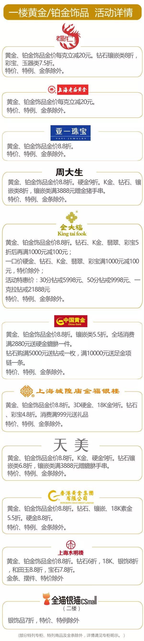 上海文峰千家惠百货岁末狂欢购折扣一览