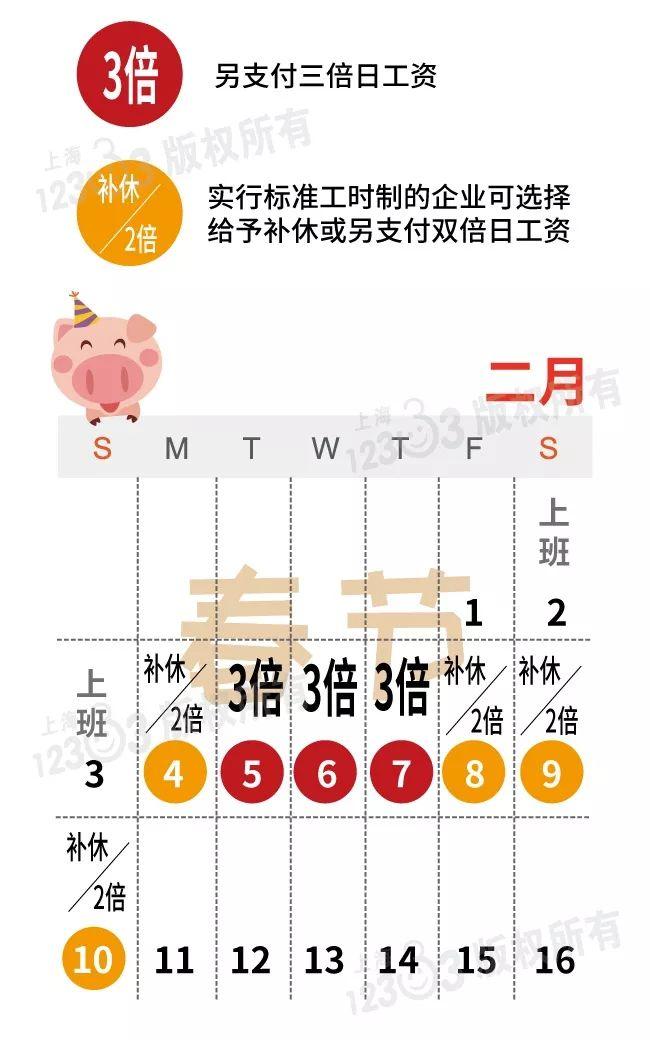 2019春节加班工资如何计算?除夕非法定节假日