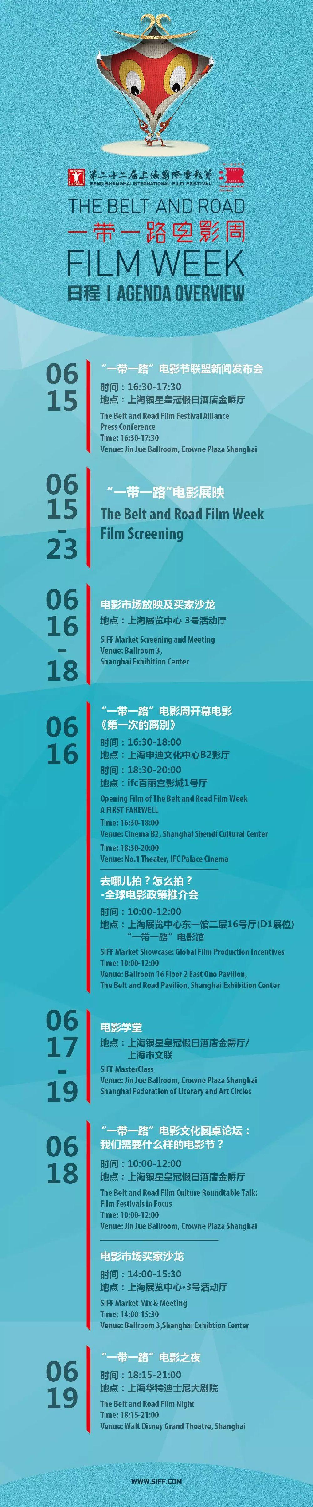 2019上海电影节一带一路电影周日程安排公布