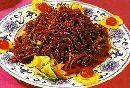 野鸡红炒牛肉丝的材料