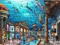 哈尔滨波塞冬海洋王国一期5月建成 游客