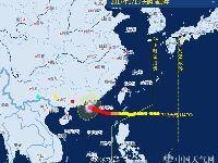 2017年13号台风天鸽23日广东登陆 阵风1