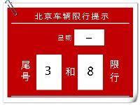 2017年4月10日起北京新一轮尾号限行时间