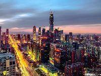 中国尊最新进度2017 日落黄昏下美景
