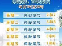 2017年7月10日至10月8日北京限行尾号轮