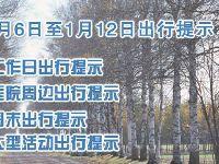 2018年1月6日至1月12日一周北京交通出行