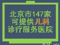 北京这些二级以上医院可提供儿科诊疗服