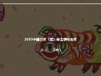 2019猪年金银纪念币发行时间及最大发行