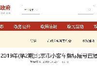2019年第3期北京市小客车指标摇号直播入