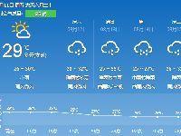 长沙天气预报(8.11):小雨 气温26~30℃
