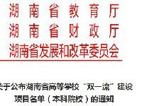 2018湖南双一流学校建设项目名单(本科)