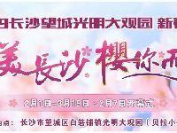 2019长沙望城区光明大观园新春樱花节游