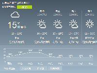 2017年12月6日广州天气预报:多云15℃~