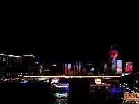 广州滨江路珠江夜景灯光作品观赏请勿扎