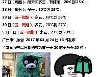 广州五一天气怎么样?2017五一广州天气