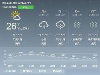 2017年5月12日广州天气预报:大到暴雨转