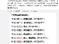 5月15日广州将有暴雨局部大暴雨 16日白