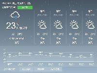 2017年5月24日广州天气预报:暴雨橙色预