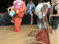 5月7日白云太和镇一家具厂水淹6人被困(