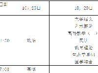2017年广东省成人高考专升本考试时间表