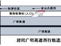 2017年9月5日-10日广明高速广州段临时封